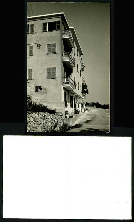 Old RP Photo Postcard ENGLISH GUEST HOUSE Hotel Parasol