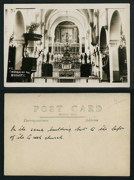 Greece Old Real Photo Postcard CHURCH OF NATIVITY