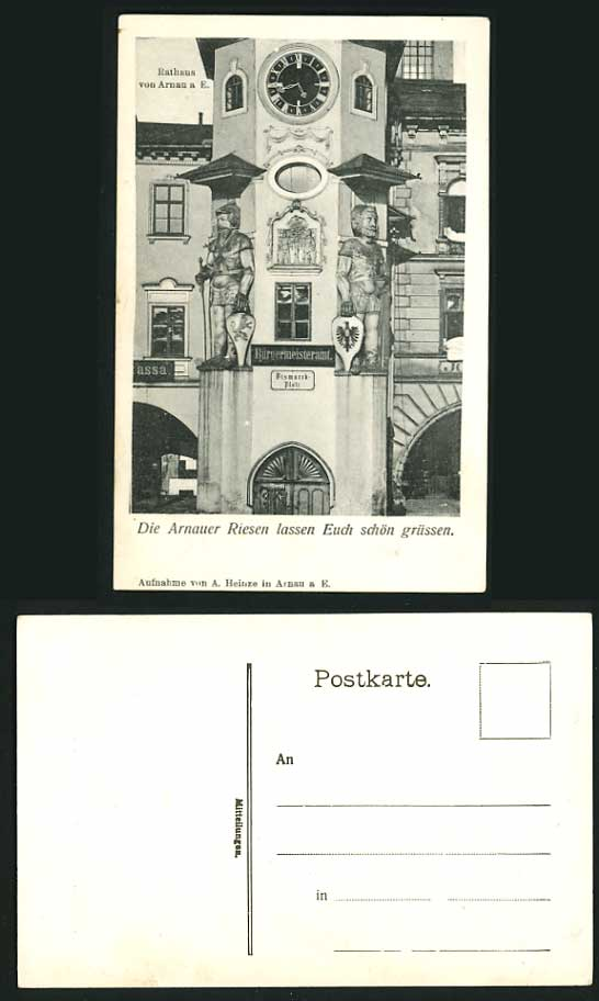 Czechoslovakia Old Postcard - ARNAUER RIESEN City Hall