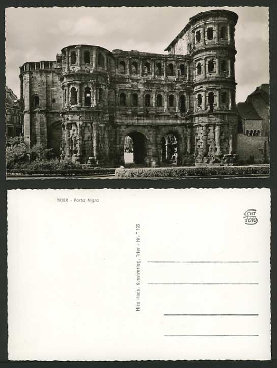 Germany Early Real Photo Postcard TRIER Porta Nigra