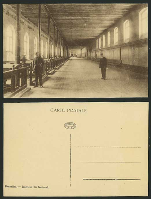 Belgium old postcard brussels interieur tir national for for Interieur belgium