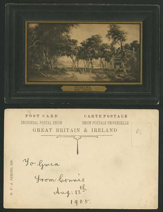 Artist Drawn 1905 Old Postcard HOBBEMA Woody Landscape