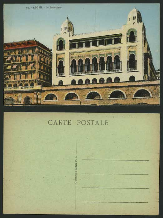 Algeria Old Coloured Postcard ALGIERS La Prefecture