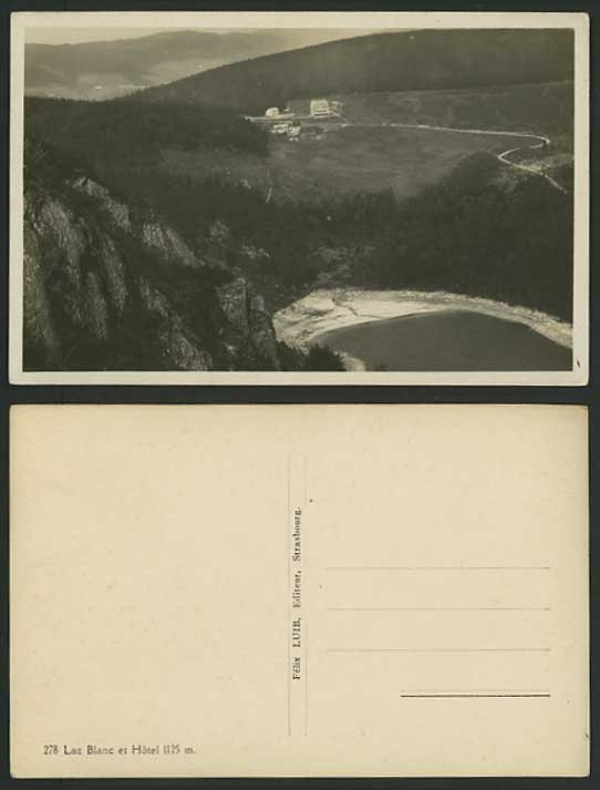 France Old Real Photo Postcard LAC BLANC & HOTEL 1125m