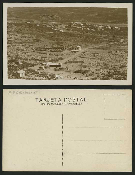 ARGENTINA Old Real Photo Postcard Countryside Panorama