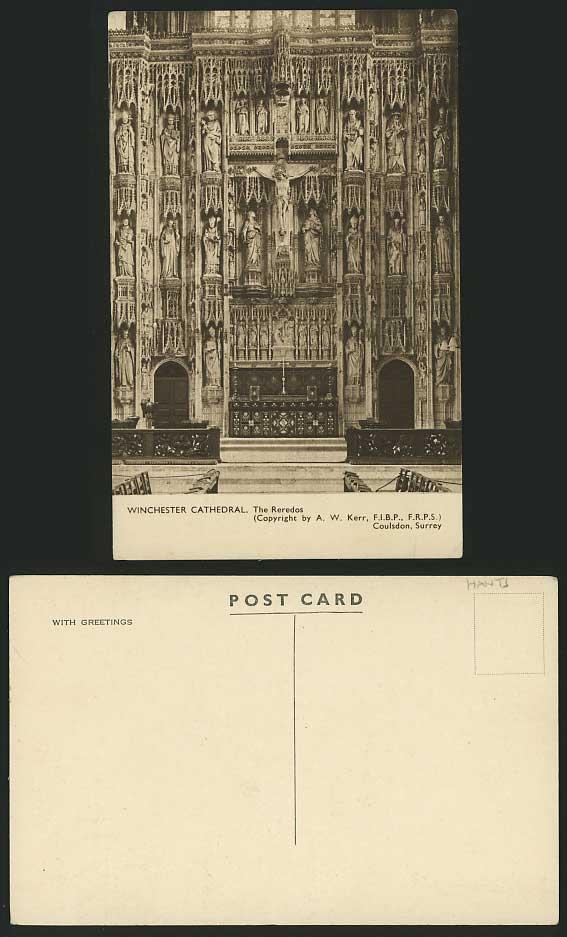 Hampshire Old Postcard WINCHESTER CATHEDRAL The Reredos