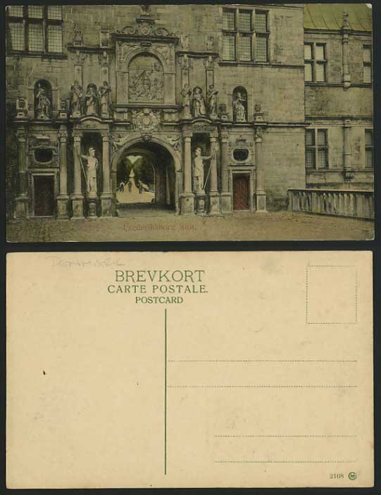 Denmark Old Postcard FREDERIKSBORG CASTLE Entrance Gate