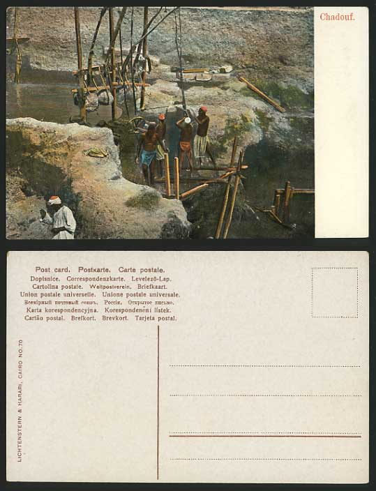 Egypt Old Postcard Shadoof Irrigation Tool Ethnic Life For Sale