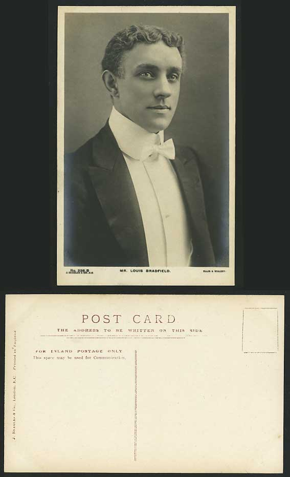 FILM Actor Mr. LOUIS BRADFIELD Old Real Photo Postcard