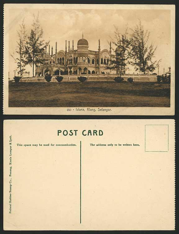 SELANGOR Old Postcard ISTANA KLANG Mahkota Puri Palace