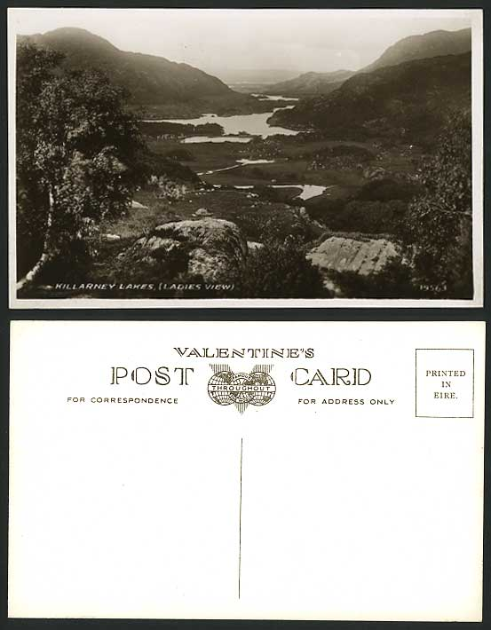 Co. Kerry Old R.P. Postcard Killarney Lakes Ladies View