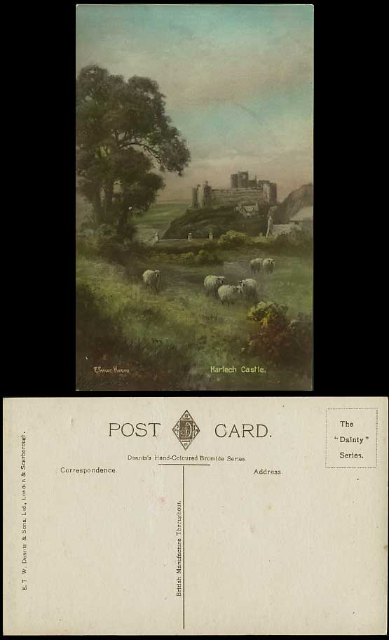 Elmer Keene Prints http://www.stamps-auction.com/elmer-keene-artist-1907-postcard-sheep-harlech-castle-for-sale-65543