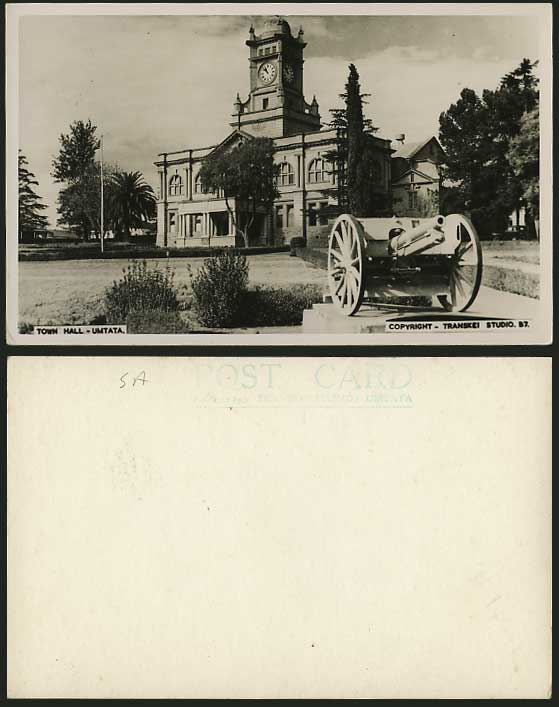 South Africa Old R.P. Postcard Town Hall Mthatha UMTATA