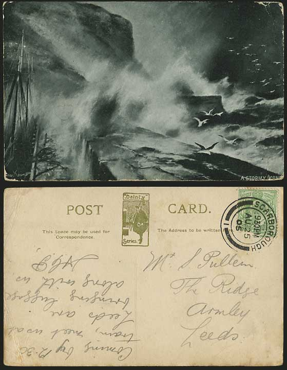 Elmer Keene Prints http://www.stamps-auction.com/elmer-keene-1905-old-postcard-rough-sea-a-stormy-corner-for-sale-70076