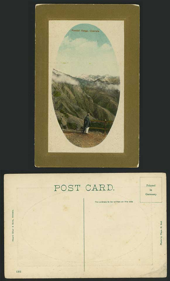 India Old Embossed Postcard Mandall Range Chakrata Mts.