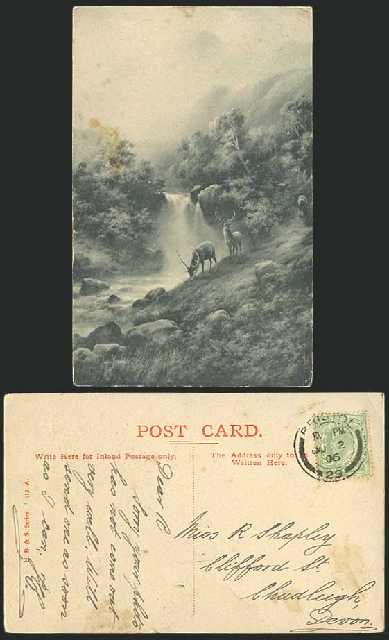 Elmer Keene Prints http://www.stamps-auction.com/elmer-keene-artist-signed-deer-waterfalls-1906-postcard-for-sale-79054