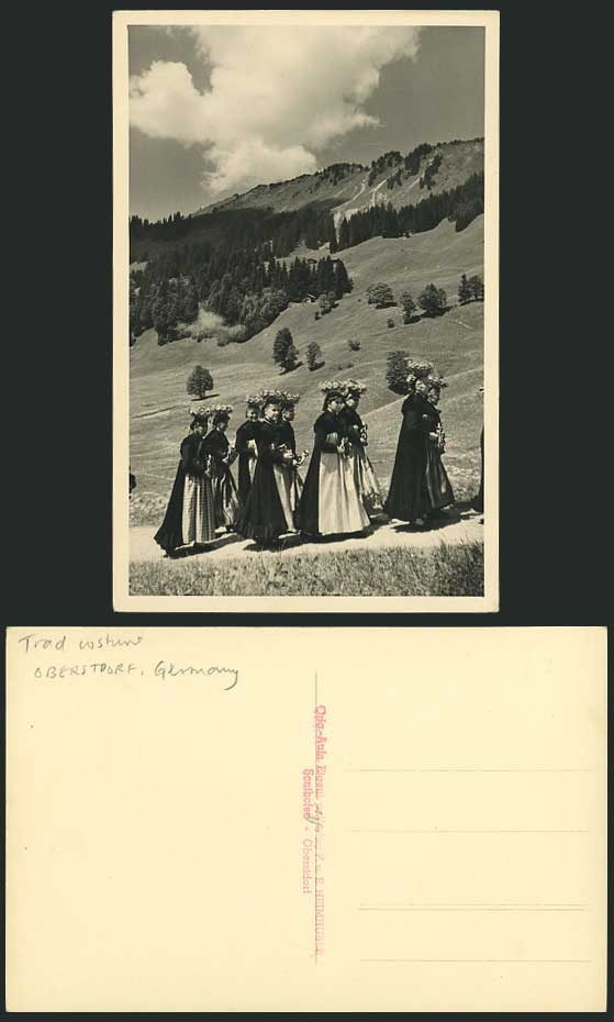 Germany OBERSTDORF Women National Costumes Old Postcard