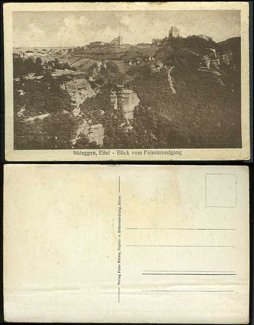 Germany Old Postcard Nideggen EIFEL Rock Felsenrundgang