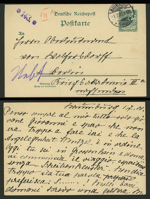 Germany 1900 Reichspost Stationery Card NAUMBURG, SAALE