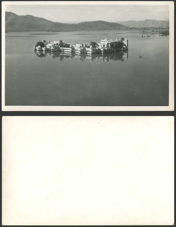 India Old R Photo Postcard Castle of Rajah in Lake Summer Palace Udaipur Oodypur