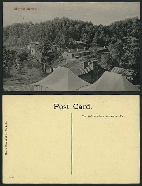 Pakistan Old Postcard GHORRIAL MURREE Galyat Rawalpindi
