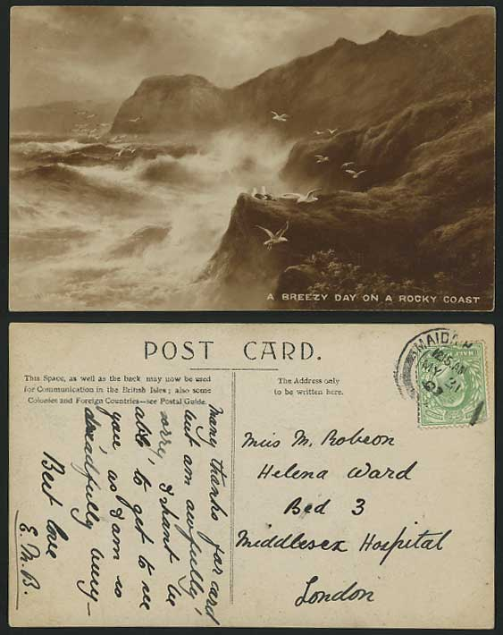 Elmer Keene Prints http://www.stamps-auction.com/elmer-keene-1907-old-postcard-breezy-day-on-rocky-coast-for-sale-86077