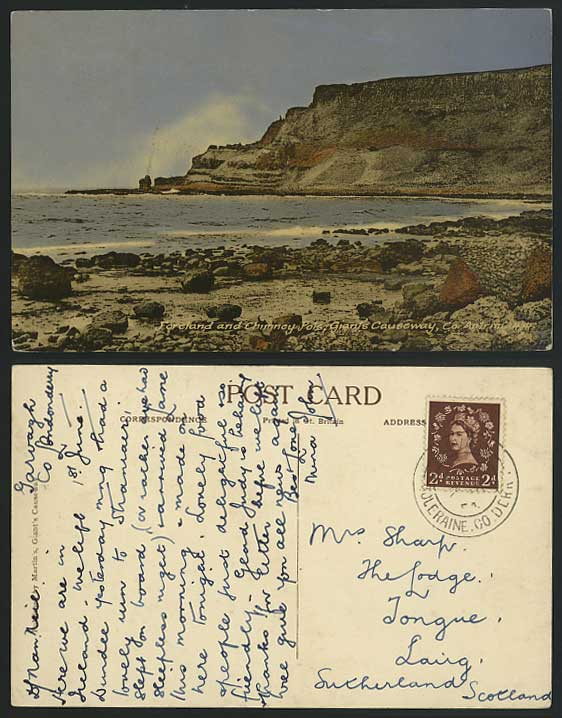 Giant's Causeway 1954 Postcard Foreland & Chimney Pots