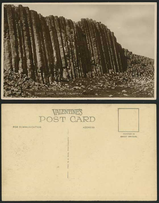 Antrim Old Irish Postcard Giants Loom, Giant's Causeway