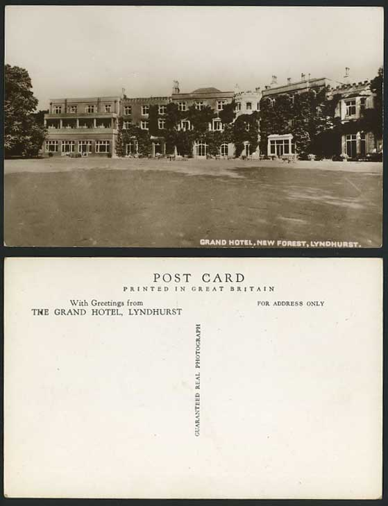 Lyndhurst THE GRAND HOTEL, New Forest Old R.P. Postcard