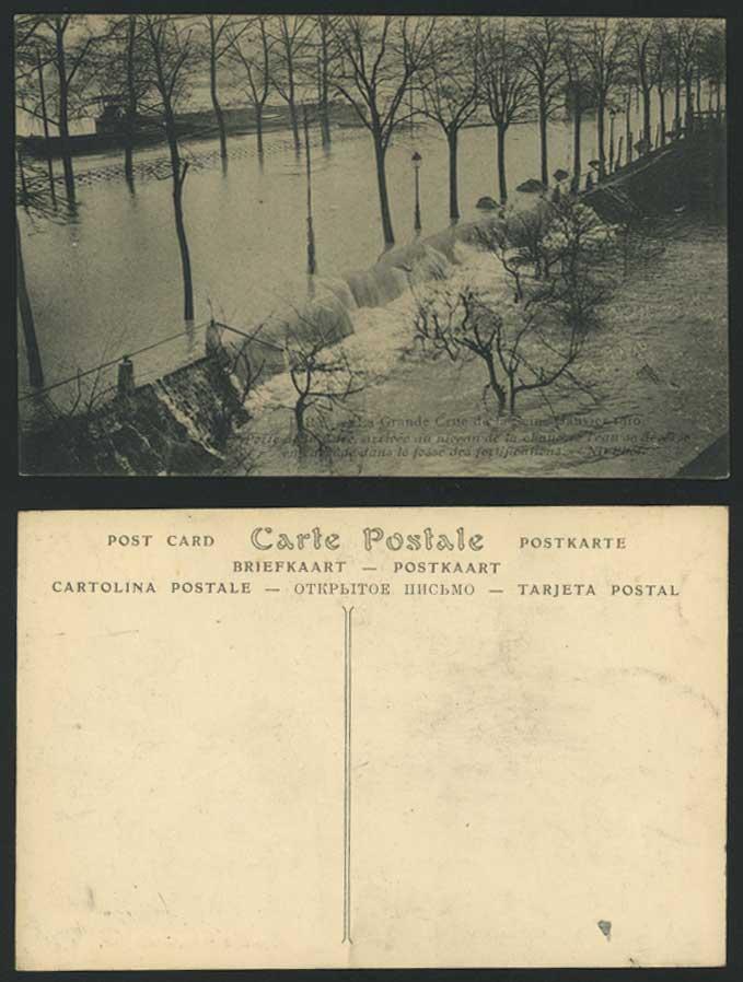 Paris flood 1910 old postcard porte de la gare for Porte 12 fooding
