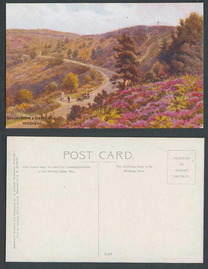 A.R. Quinton Old Postcard Sailor's Stone & Gibbet Hill ...