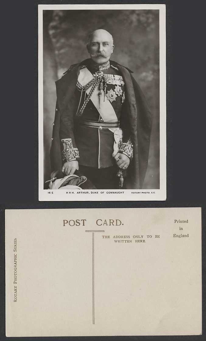 H.R.H. Arthur, Duke of Connaught and Strathearn, Royalty Old Real Photo Postcard