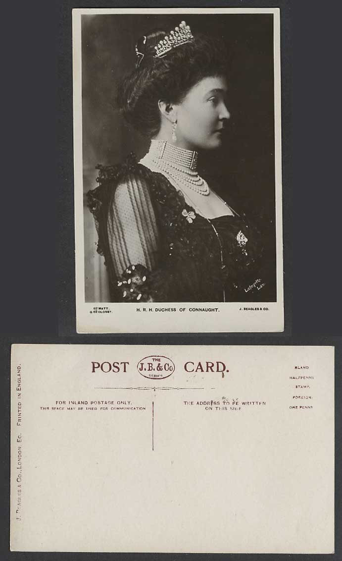 H.R.H. Duchess of Connaught, Princess Louise Margaret of Prussia Old RP Postcard