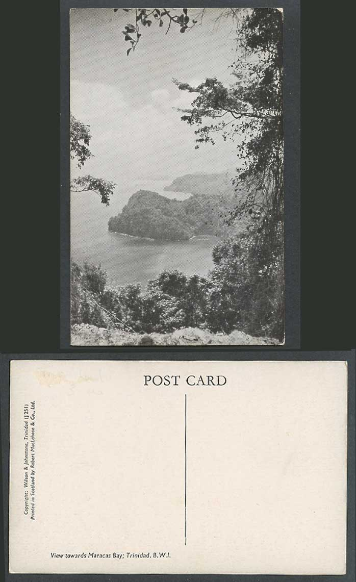 Trinidad Old Postcard View towards Maracas Bay B.W.I. British West Indies J251