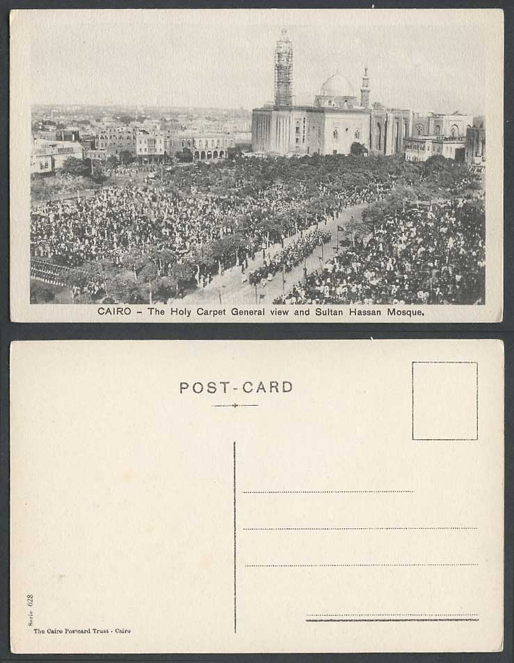 Egypt Old Postcard Cairo, Holy Carpet Street Procession and Sultan Hassan Mosque