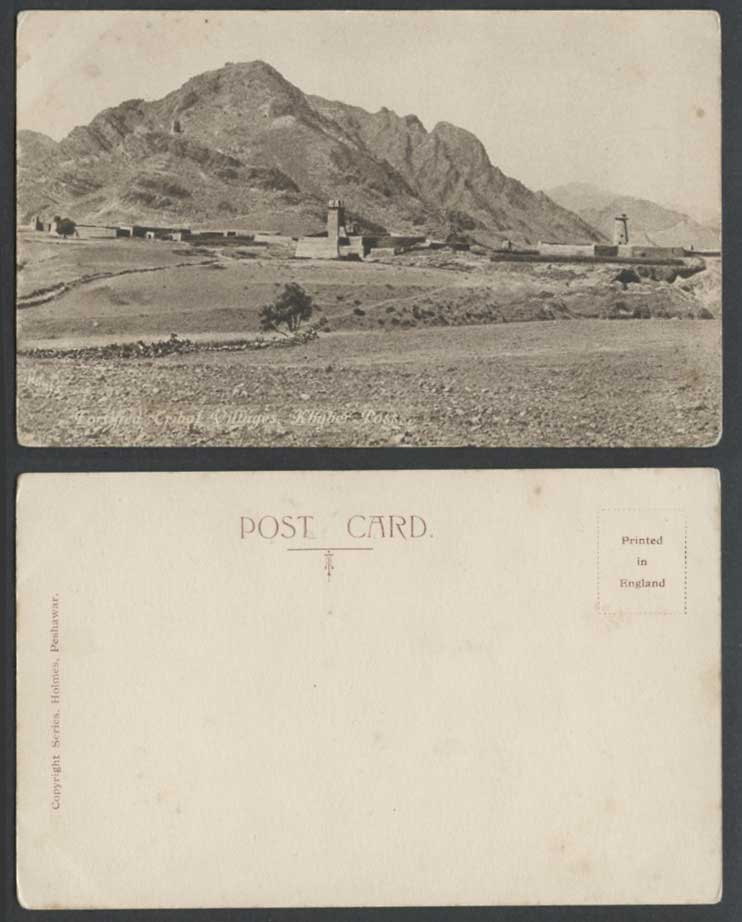 Pakistan Afghanistan Khyber Pass Fortified Tribal Villages Mountain Old Postcard