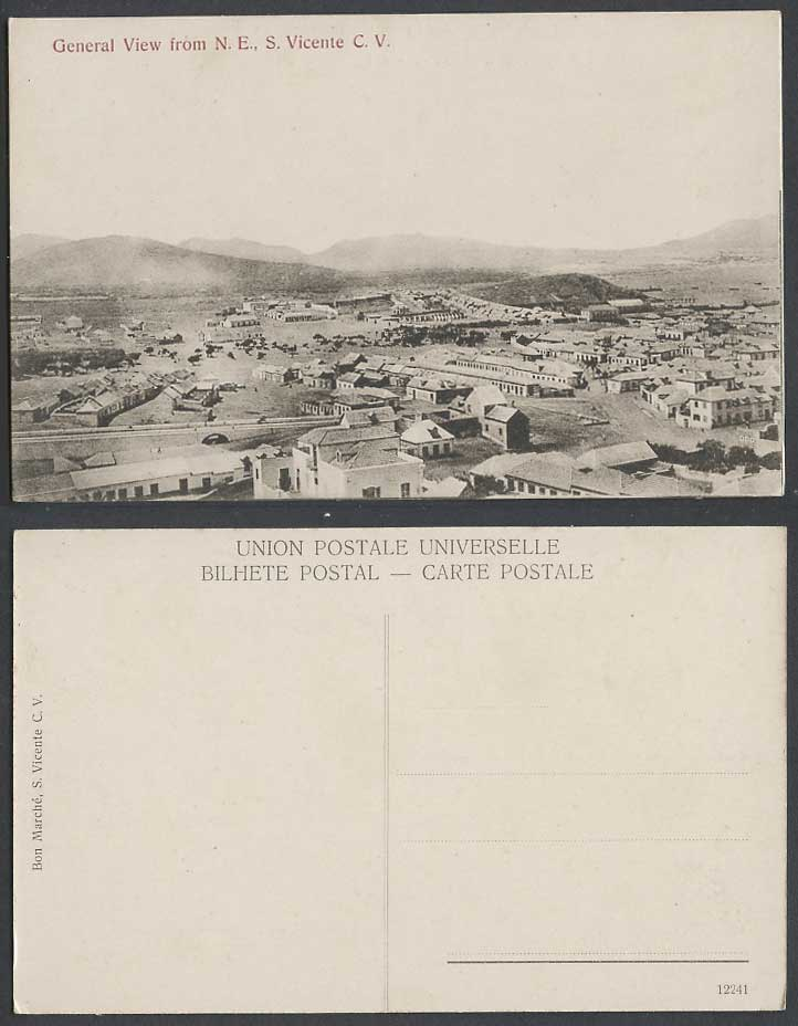 Cape Verde St. Vincent General View from North East S. Vincente C.V Old Postcard