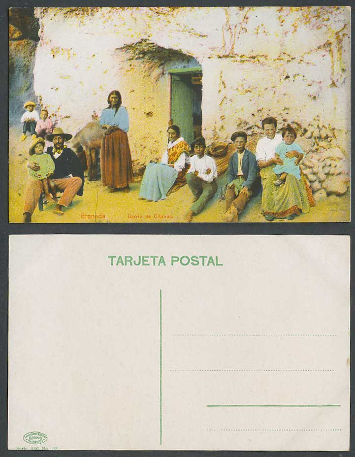 Spain Old Colour Postcard Granada Barrio de Gitanos Gypsies Gypsy Women Children