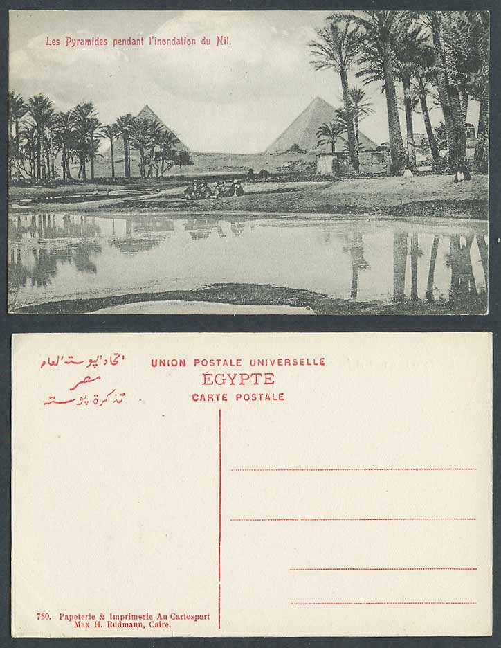 Egypt Old Postcard Cairo, Pyramids Pyramides pendant l'inondation du Nil, Camels