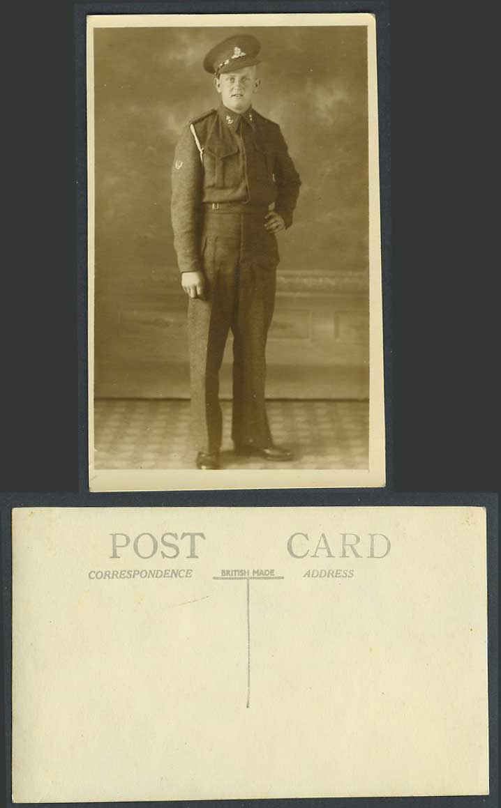 WW1 First World War, Soldier Military Uniform Old Real Photo Photograph Postcard