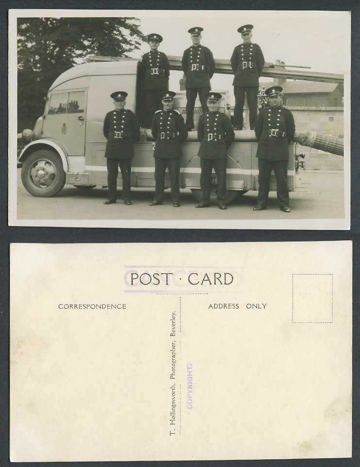 WW2 Soldiers Standing on & by a Vehicle Military Uniform Old Real Photo Postcard