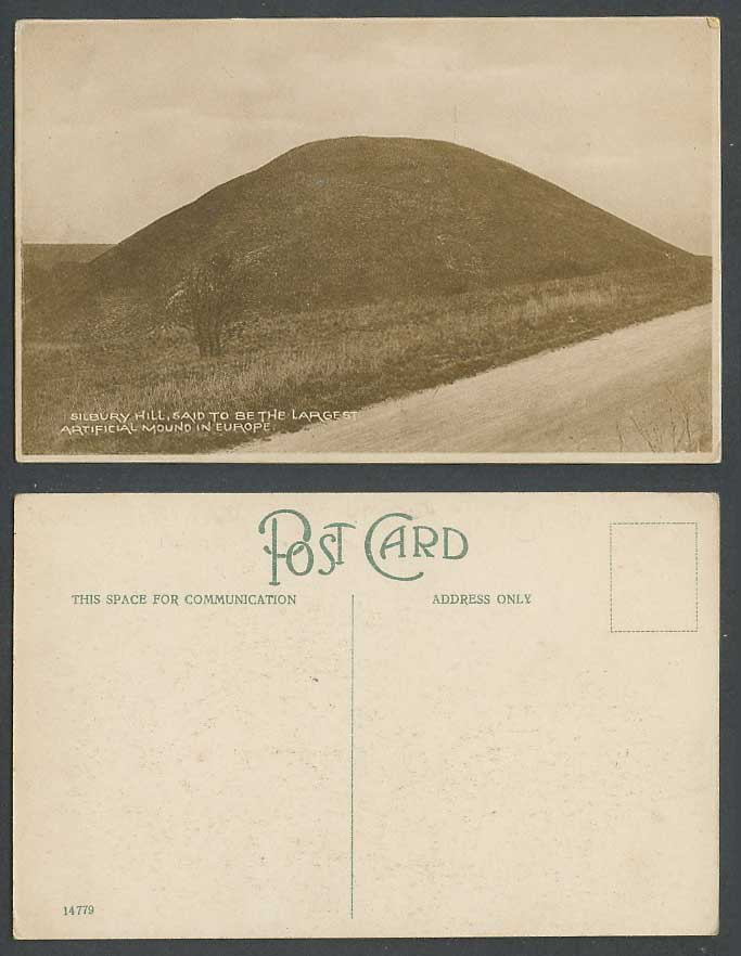 Salisbury Hill, Wiltshire, The Largest Artificial Mound in Europe Old Postcard