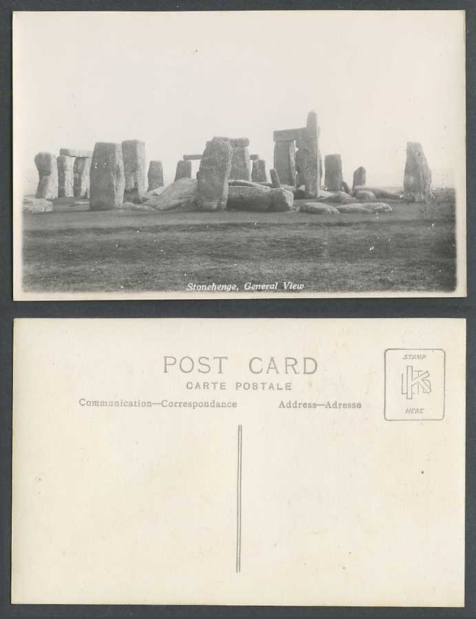Stonehenge General View Salisbury Plain Stones Wiltshire Old Real Photo Postcard
