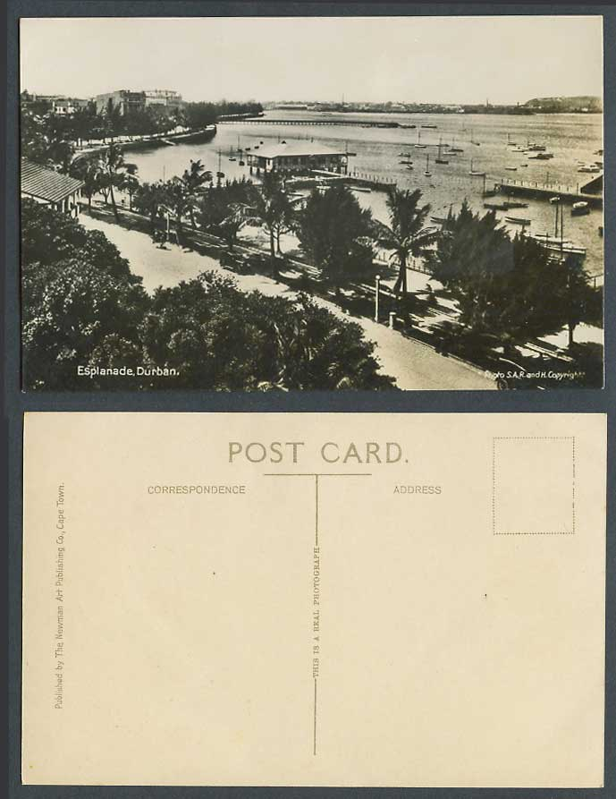 South Africa Durban Esplanade Old Photo Postcard Street Scene Pier Jetty Harbour