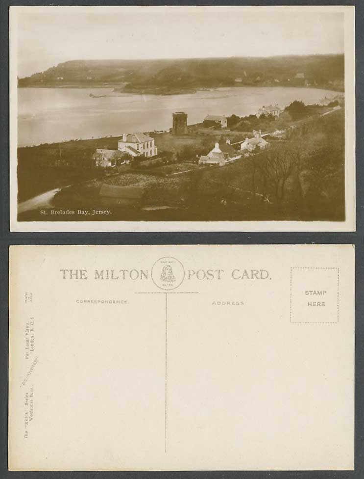 Jersey Old Real Photo Postcard St. Brelades Bay Tower, La Baie de Saint-Brelades