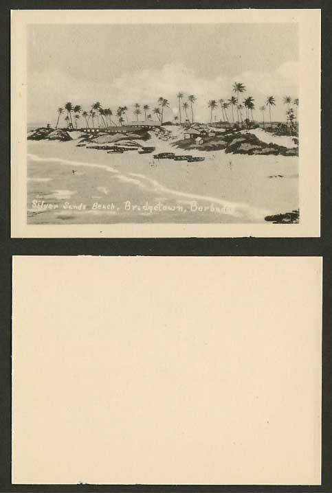 Barbados, Silver Sands Beach, Bridgetown Old Card Snap Shot British West Indies