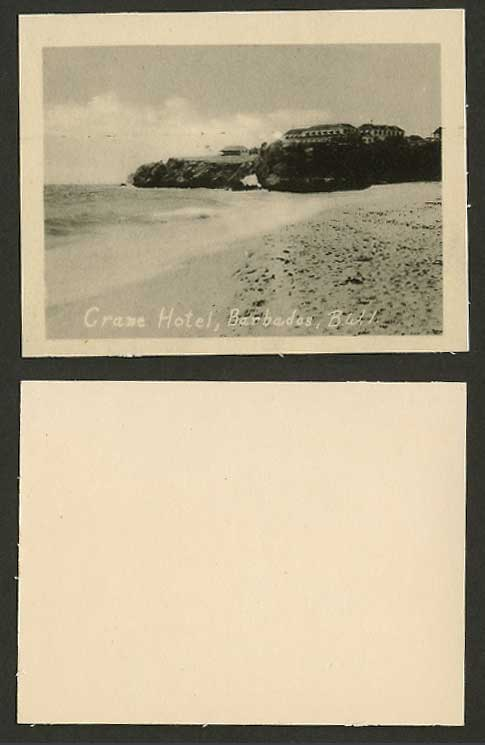 Barbados Crane Hotel Beach Seaside Cliffs Old Card Snap Shot British West Indies