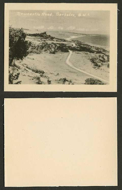 Barbados Newcastle Road, Seaside Panorama Old Card Snap Shot British West Indies