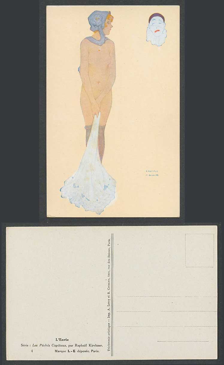 Raphael Kirchner Old Postcard L'Envie, Les Péchés Capitaux, Envy The Deadly Sins
