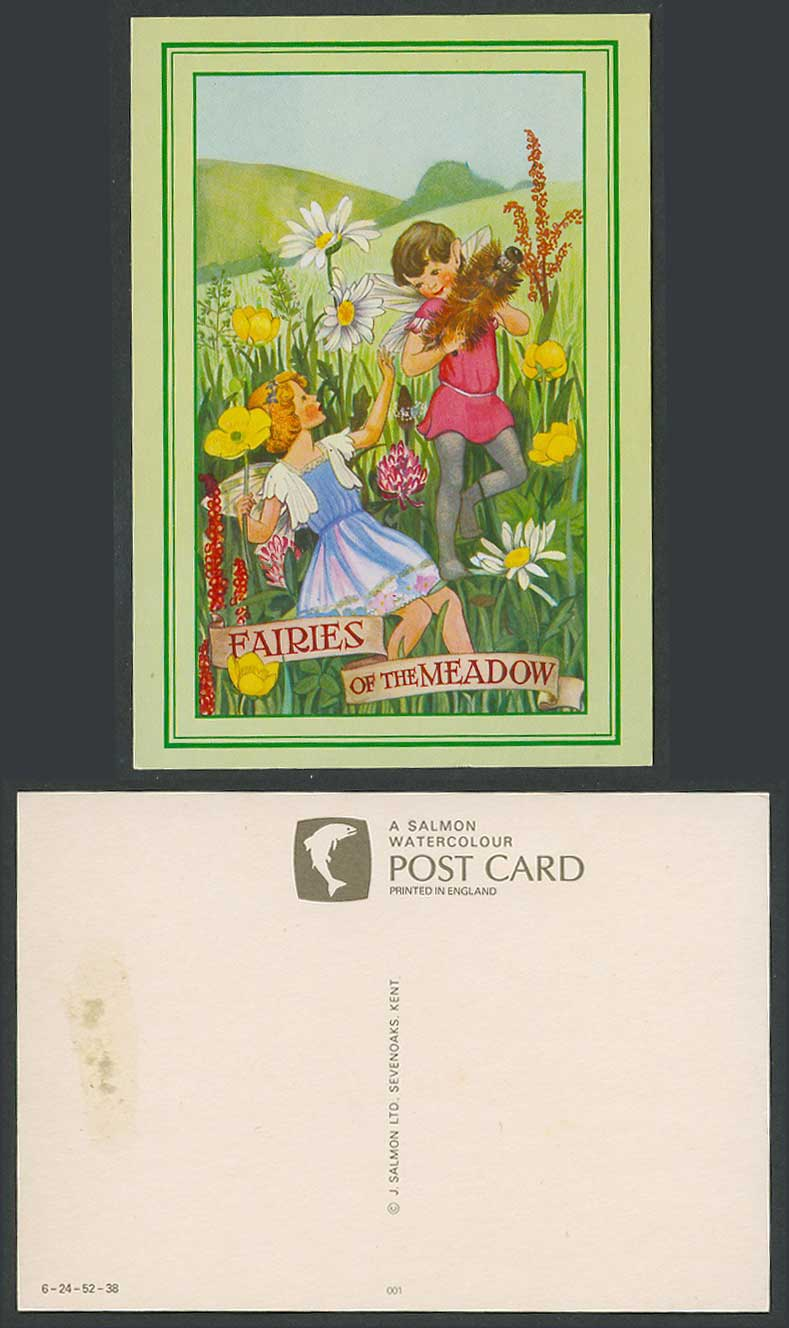 M. Sherbourne Fairies of The Meadow Flowers Hills Artist Drawn Postcard J Salmon